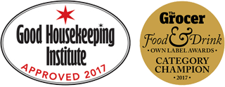 Good Housekeeping Institute Approved 2017 & Grocer Food and Drink