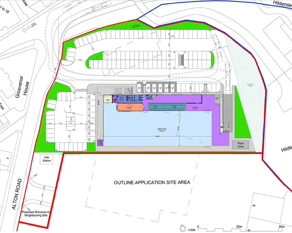 Proposed Site Layout – Lidl Ross on Wye