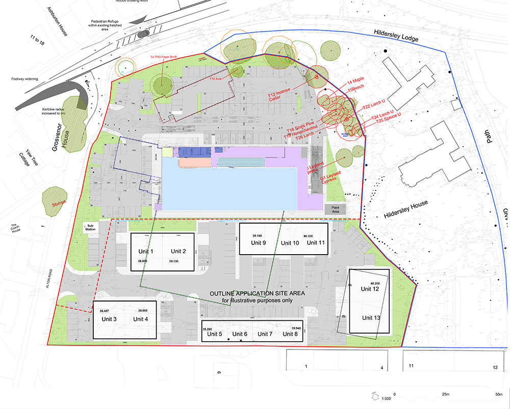 Lidl Ross on Wye - Proposed Site Plan